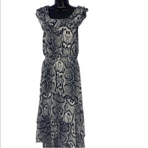 Madison Dresses - Madison hi low snake print chiffon dress